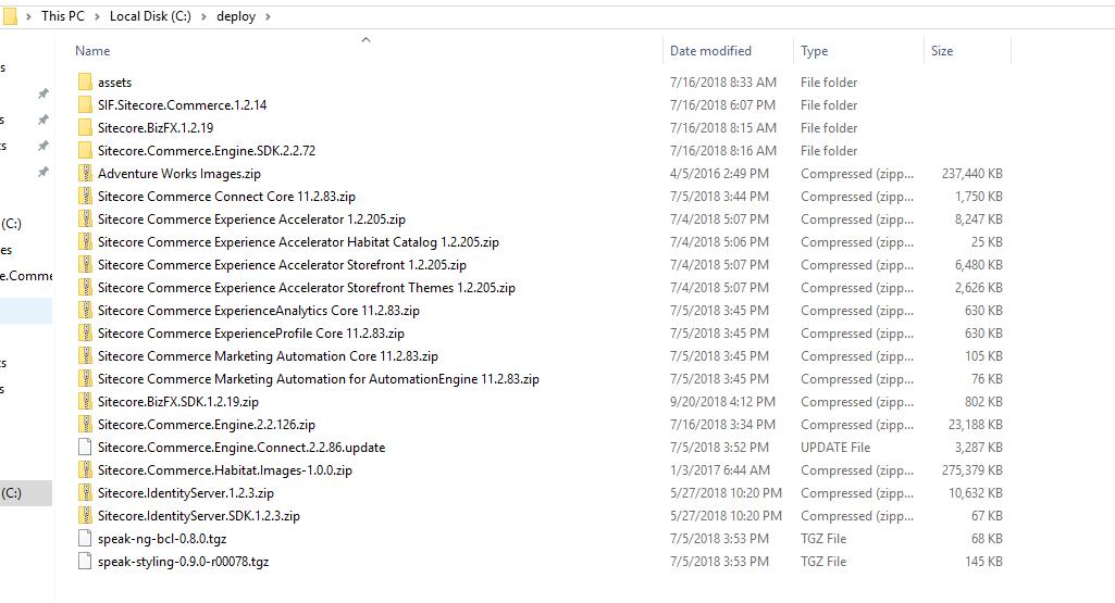 sxc9u2 04 listing of deploy folder