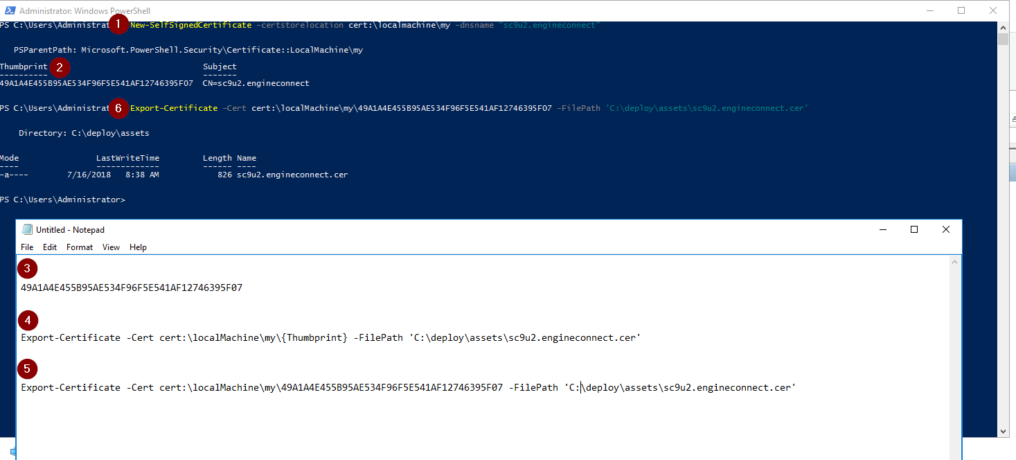 sxc9u2 05 generate certificate
